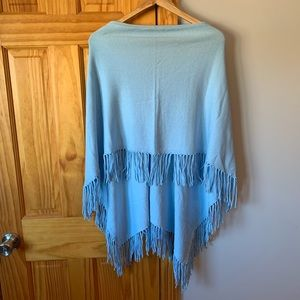 Hannah Rose blue poncho new
